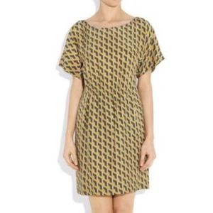 Rag & Bone Dalmeny Yellow Printed Silk Dress